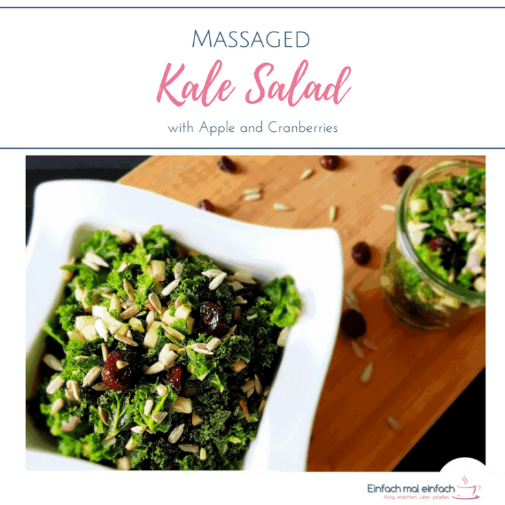 Massaged Kale Salad With Apple and Cranberries