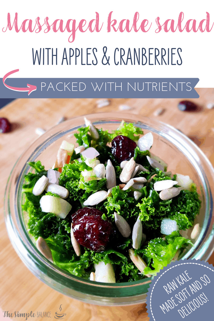 Massaged Kale Salad With Apple and Cranberries 5
