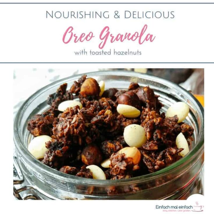 Oreo granola with toasted hazelnuts 4