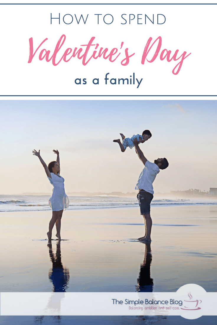 Valentine's day as a family Pinterest image