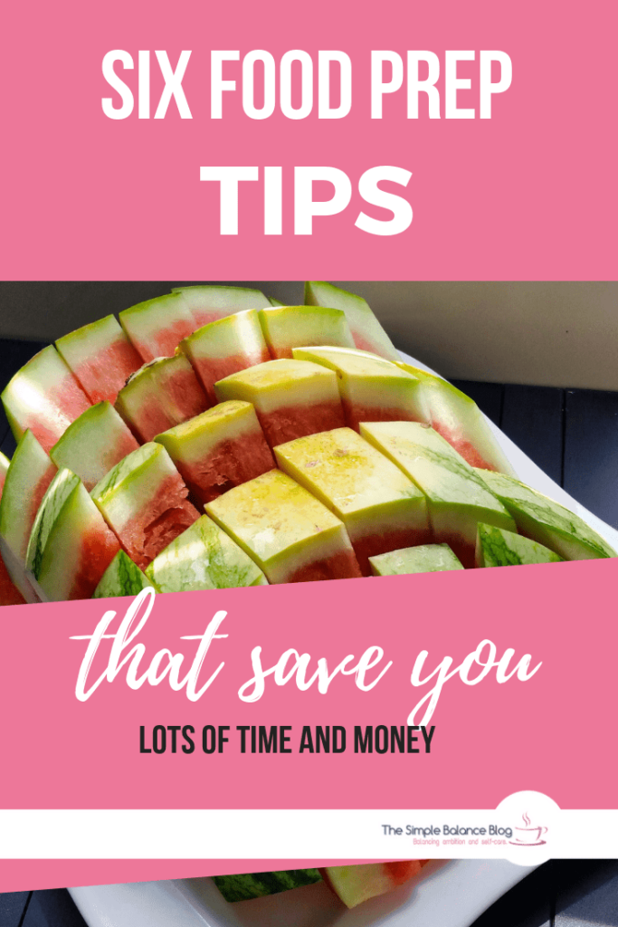 food prep tips Pinterest image