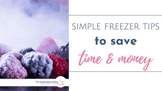 simple freezer tips title image