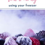 If you like to save time and money, don't miss these freezer tips and tricks. Make your life easier with tips for freezing onion, berries, cheese and other foods. #foodprep #freezerfriendly #freezer #timesaver #savingtime #savingmoney