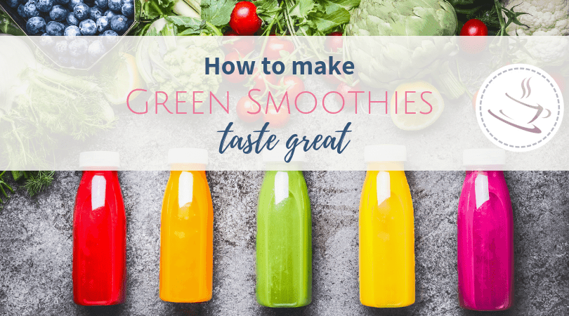 five bottles of green smoothies