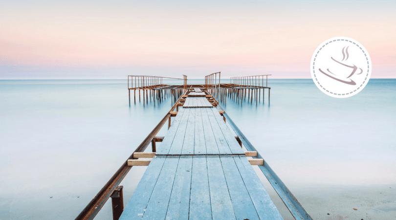 pier in the evening sun
