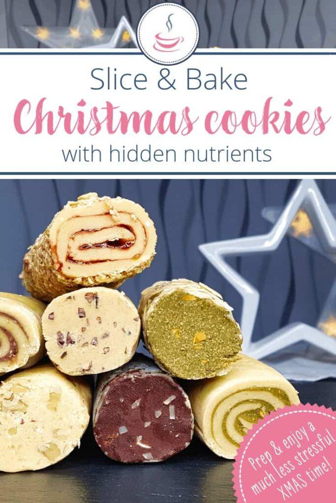 Healthier slice and bake cookies Pinterest image
