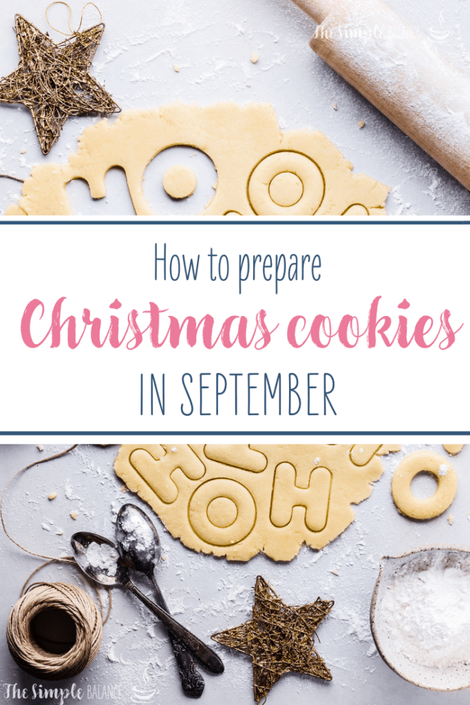 How to prepare Christmas cookies in September 3