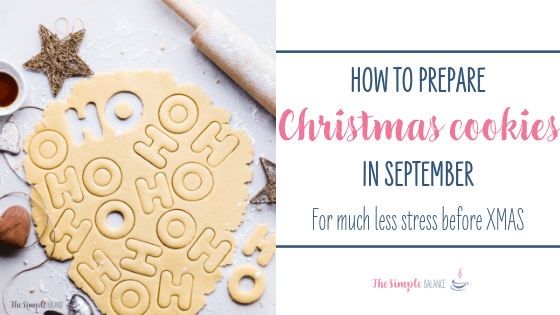 How to prepare Christmas cookies in September 1