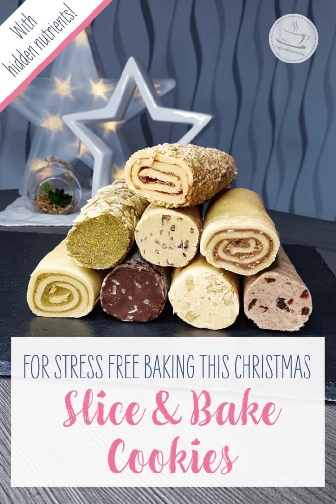 Healthier slice and bake cookies Pintzerest image