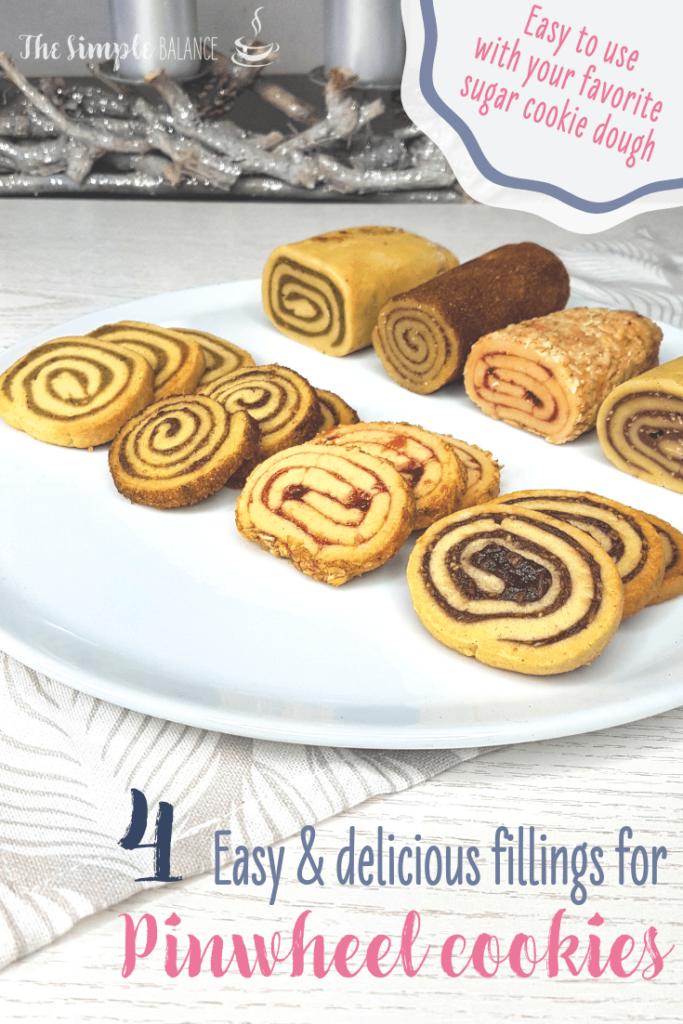 Pinwheel cookies pin image