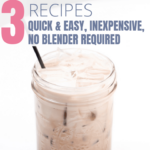 Iced latte in glass jar