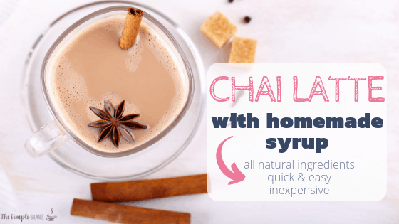 Chai Latte with easy homemade syrup 2