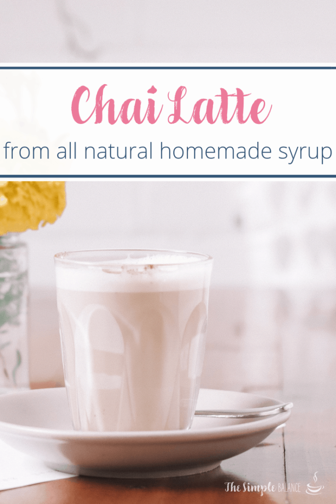 Chai Latte with easy homemade syrup 5