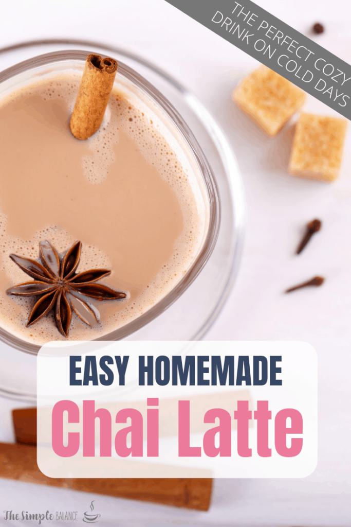 Chai Latte with easy homemade syrup 4