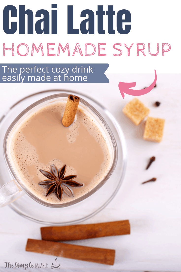 Chai Latte with easy homemade syrup 6