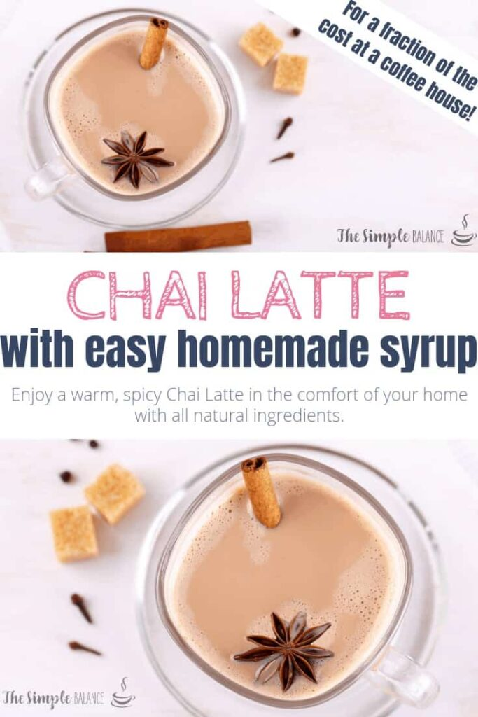 Chai Latte with easy homemade syrup 7