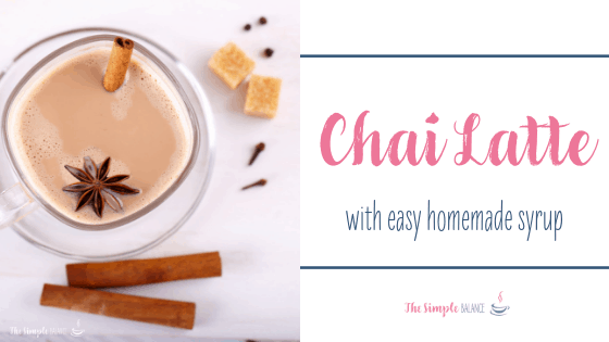 Chai Latte with easy homemade syrup 1