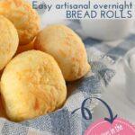 Easy artisanal overnight bread rolls 1